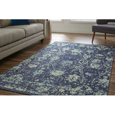 Meagan Blue Area Rug Rug Size: Rectangle 5 x 8