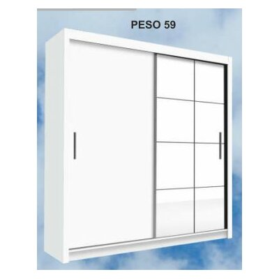 Dionisio Armoire Color: White, Size: 86 H x 59 W x 24 D