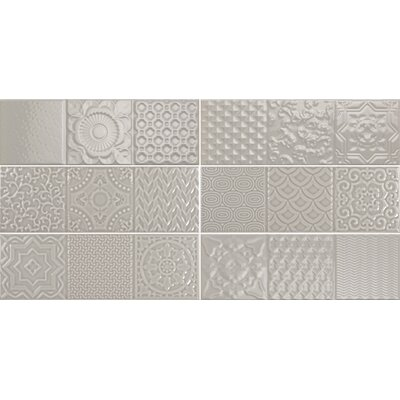 Countryside Deco 4 x12 Ceramic Subway Tile in Dovetail