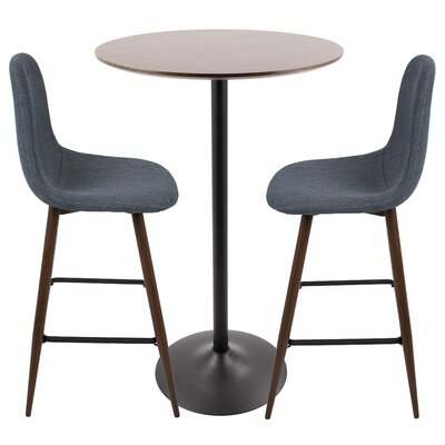 Weissman Pub Table Set Color: Blue