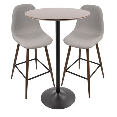 Weissman Pub Table Set Color: Light Gray