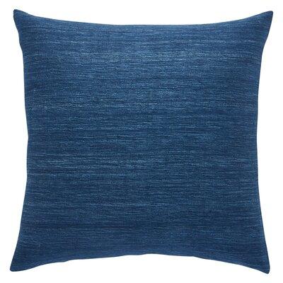 Aryana Solid Indigo Silk Throw Pillow Fill Material: Down/Feather