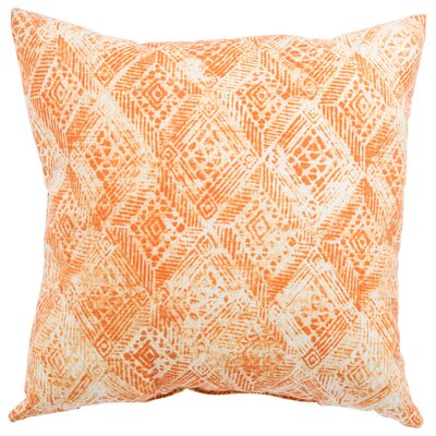 Azucena Outdoor Throw Pillow Color: Orange, Size: 18 H x 18 W