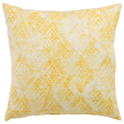 Azucena Outdoor Throw Pillow Color: Yellow, Size: 20 H x 20 W