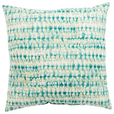 Dov Outdoor Throw Pillow Color: Aqua, Size: 18 H x 18 W