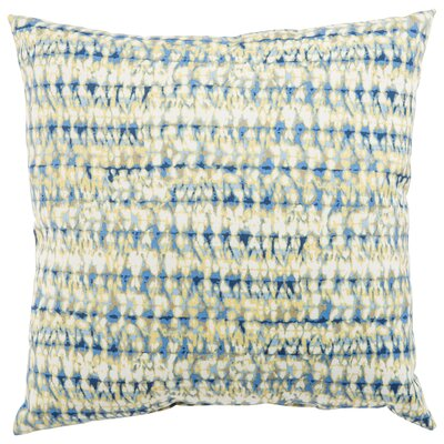 Dov Outdoor Throw Pillow Color: Blue, Size: 18 H x 18 W