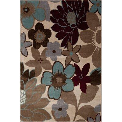Dubois Floral Ivory/Beige Area Rug Rug Size: Runner 2'2