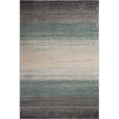 Clore Ombre Blue/Gray Area Rug Rug Size: Runner 22 x 8