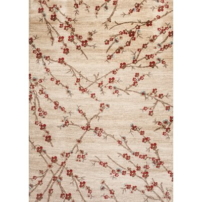Duffield Branches Floral Beige Area Rug Rug Size: Rectangle 2 x 3