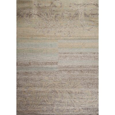 Shela Striped Scroll Beige Area Rug Rug Size: Rectangle 33 x 5