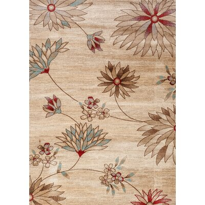 Duchesne Large Floral Beige Area Rug Rug Size: Rectangle 33 x 5