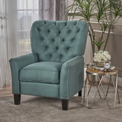 Wellersburga Manual No Motion Recliner Upholstery: Teal