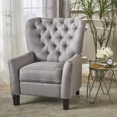 Wellersburga Manual No Motion Recliner Upholstery: Gray