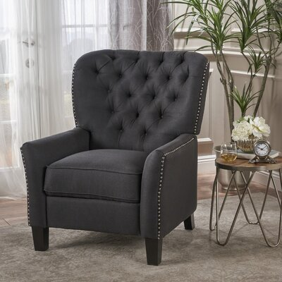 Wellersburga Manual No Motion Recliner Upholstery: Charcoal