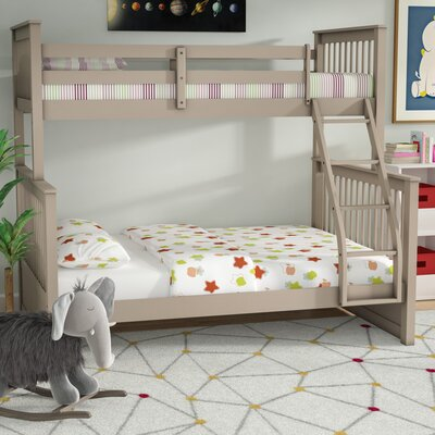 Liberty Twin Over Full Bunk Bed Without Drawers Color: Sand Wash
