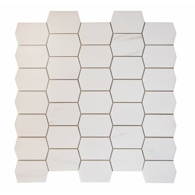 Marble Mosaic Tile in Bianco Venato Dolomite