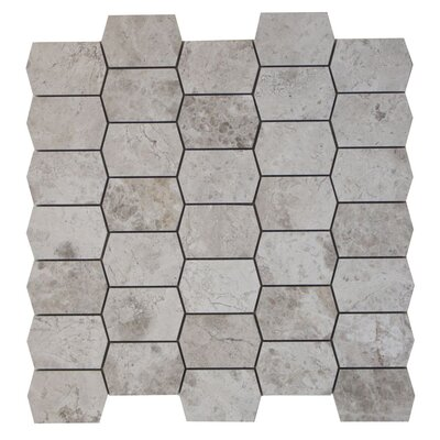 Marble Mosaic Tile in Silver Shadow