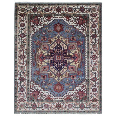 One-of-a-Kind Roselle Oriental Hand Woven Wool Red/Beige Area Rug