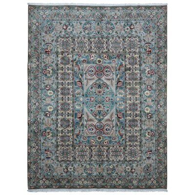 One-of-a-Kind Evert Tabriz Oriental Hand Woven Wool Blue/Green Area Rug