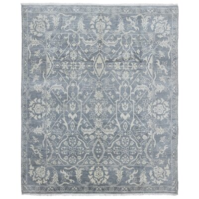 One-of-a-Kind Ezine Oushak Oriental Hand Woven Wool Gray/Beige Area Rug