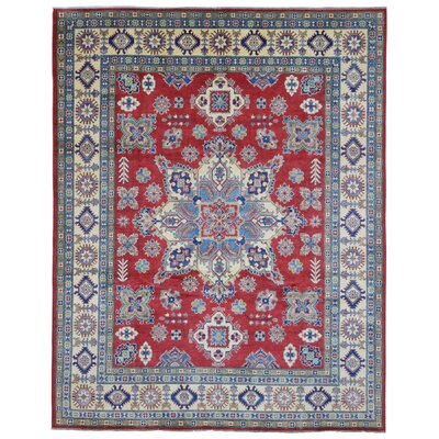 One-of-a-Kind Abbotsford Oriental Hand Woven Wool Blue/Red Area Rug