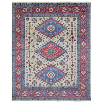 One-of-a-Kind Abbotsford Oriental Hand Woven Wool Red/Blue Area Rug