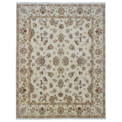 One-of-a-Kind Baron Oriental Hand Woven Wool Beige Area Rug