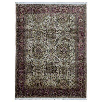 One-of-a-Kind Rukunayake Oriental Hand Woven Wool Beige/Red Area Rug