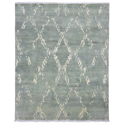 One-of-a-Kind Ezine Oushak Oriental Hand Woven Wool Green/Beige Area Rug