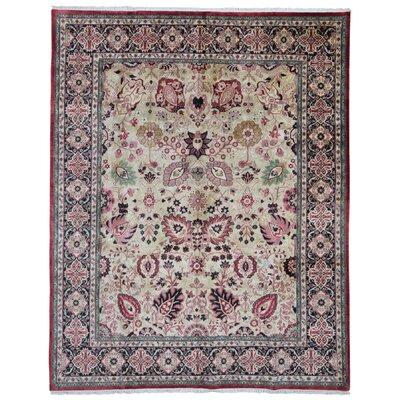One-of-a-Kind Rukunayake Oriental Hand Woven Wool Beige/Pink Area Rug