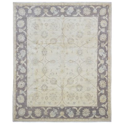 One-of-a-Kind Evert Peshawar Oriental Hand Woven Wool Beige/Gray Area Rug