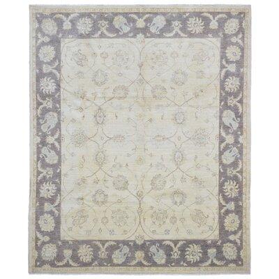 One-of-a-Kind Evert Peshawar Oriental Hand Woven Wool Beige/Gray Area Rug