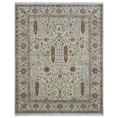 One-of-a-Kind Rukunayake Oriental Hand Woven Wool Beige Area Rug