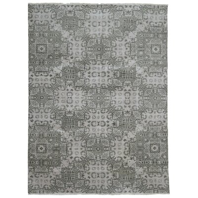 One-of-a-Kind Guifford Hand Woven Wool Gray Area Rug