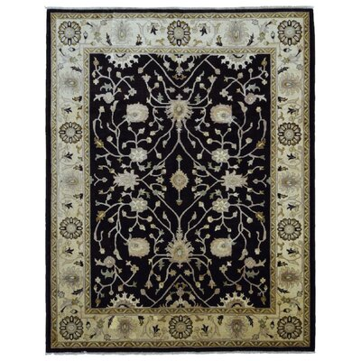One-of-a-Kind Evert Peshawar Oriental Hand Woven Wool Black/Beige Area Rug