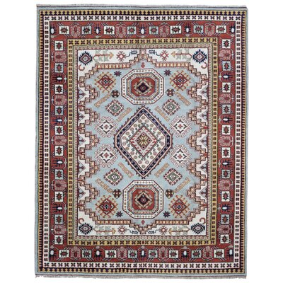 One-of-a-Kind Abbotsford Hand Woven Wool Blue/Red Area Rug