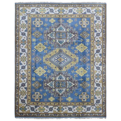 One-of-a-Kind Abbotsford Hand Woven Wool Blue/Gold Area Rug