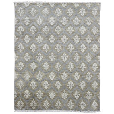 One-of-a-Kind Ezine Oushak Hand Woven Wool Gray/Beige Area Rug