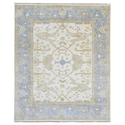 One-of-a-Kind Mitchel Oriental Hand Woven Wool Beige/Blue Area Rug