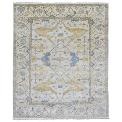 One-of-a-Kind Mitchel Oriental Hand Woven Wool Beige Area Rug