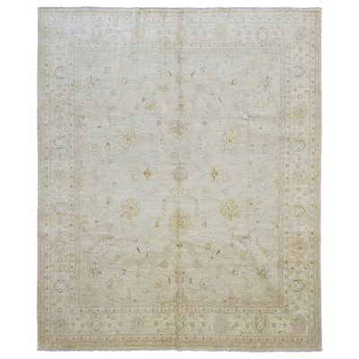 One-of-a-Kind Evert Peshawar Oriental Hand Woven Wool Beige Area Rug