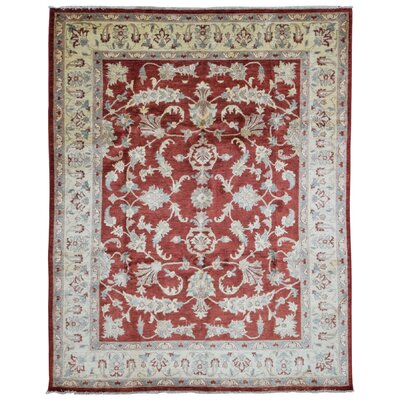 One-of-a-Kind Evert Peshawar Oriental Hand Woven Wool Red/Beige Area Rug