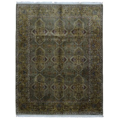 One-of-a-Kind Rukunayake Oriental Hand Woven Wool Brown Area Rug