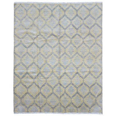 One-of-a-Kind Ezine Knot Oushak Hand Woven Wool Gray/Beige Area Rug