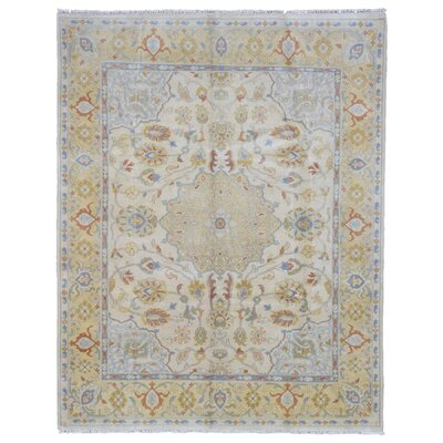 One-of-a-Kind Baron Oriental Hand Woven Wool Beige/Blue Area Rug