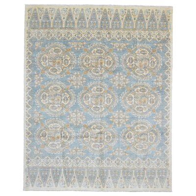 One-of-a-Kind Evert Peshawar Oriental Hand Woven Wool Blue/Beige Area Rug