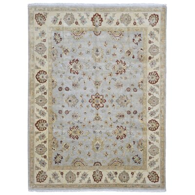 One-of-a-Kind Baron Oriental Hand Woven Wool Blue/Beige Area Rug