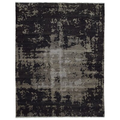 One-of-a-Kind Alyda Hand Woven Wool Brown Area Rug