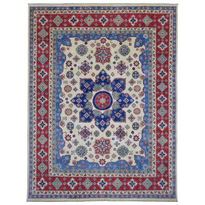 One-of-a-Kind Evert Kazak Hand Woven Wool Blue/Beige Area Rug