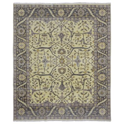One-of-a-Kind Baron Oriental Hand Woven Wool Beige/Black Area Rug